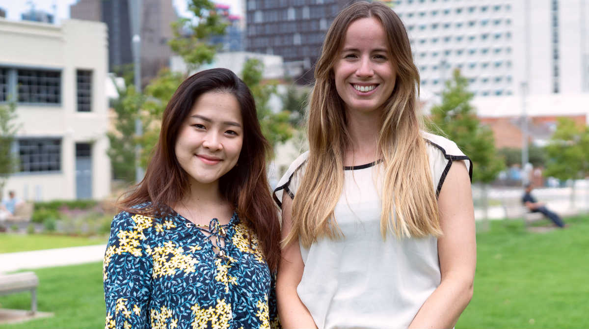 Melbourne Business School Full-time MBA students Tasha Yogiswara and Carolina Beunza